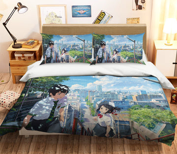 3D Your Name 066 Anime Bed Pillowcases Quilt