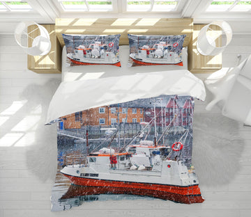 3D Arctic Seaport 005 Marco Carmassi Bedding Bed Pillowcases Quilt