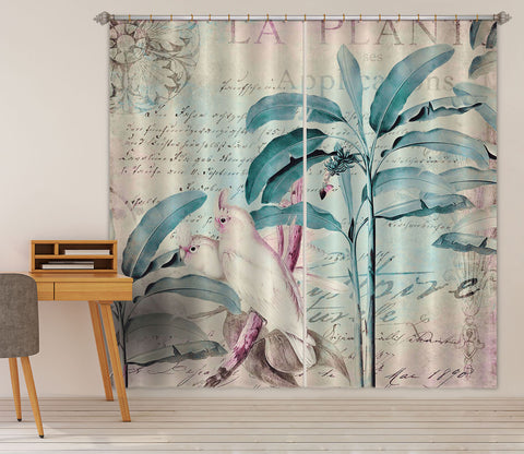 3D White Bird 072 Andrea haase Curtain Curtains Drapes