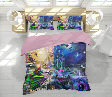3D Wonderland 110 Rose Catherine Khan Bedding Bed Pillowcases Quilt