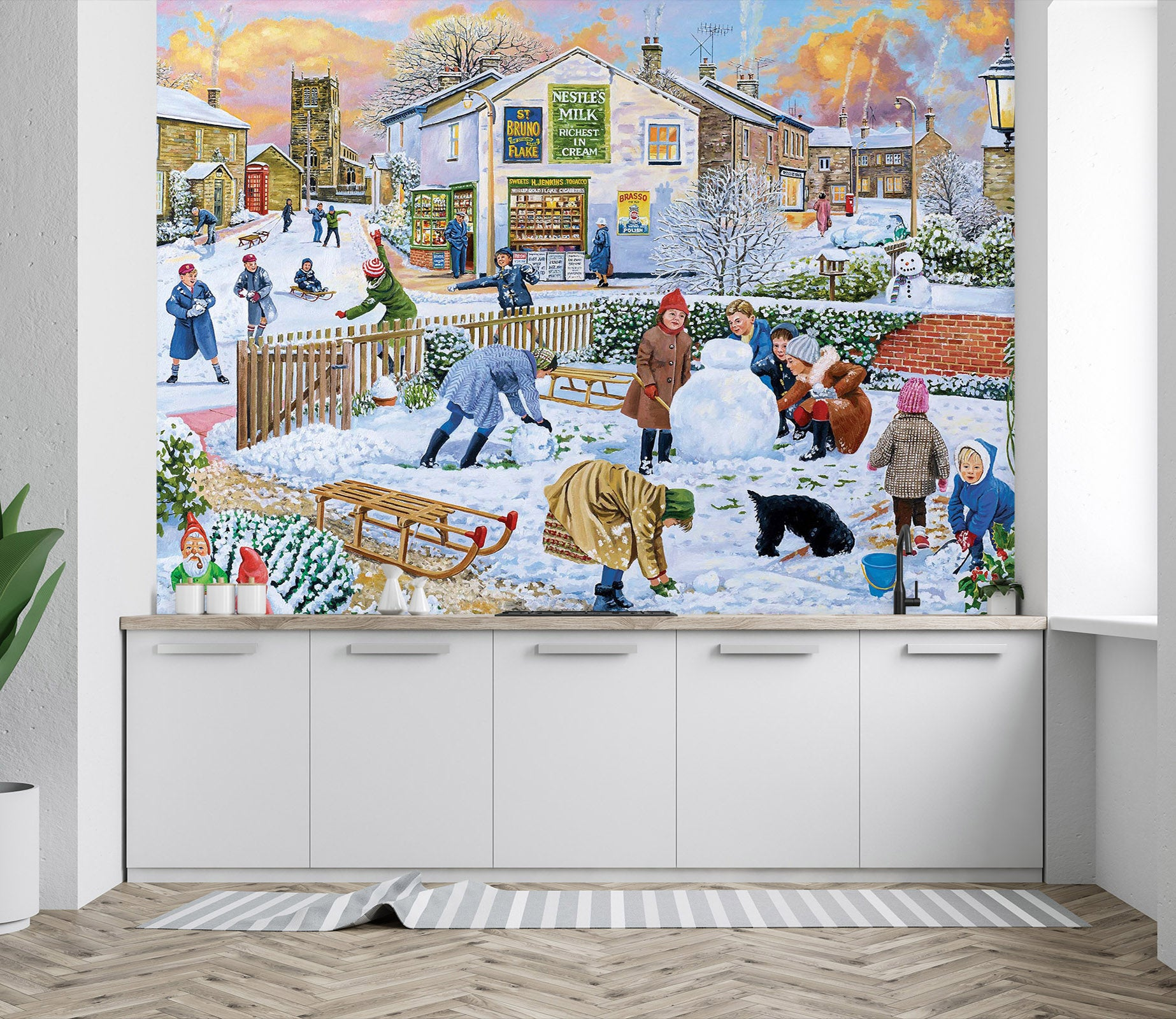 3D Winter Games 1076 Trevor Mitchell Wall Mural Wall Murals