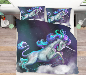 3D Cute Unicorn 114 Rose Catherine Khan Bedding Bed Pillowcases Quilt