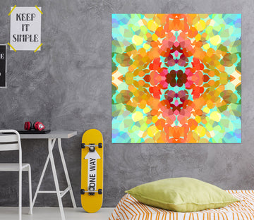 3D Swim Colors Flower 71119 Shandra Smith Wall Sticker