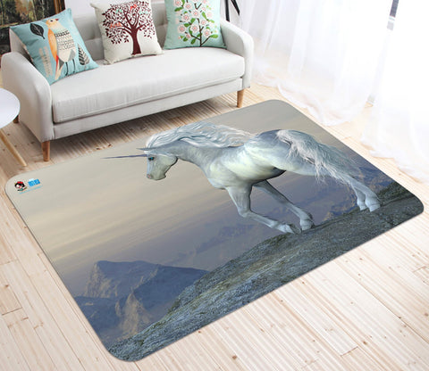 3D Cliff Unicorn 08 Non Slip Rug Mat Mat AJ Creativity Home