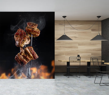 3D Charcoal Roast Beef 865 Wall Murals