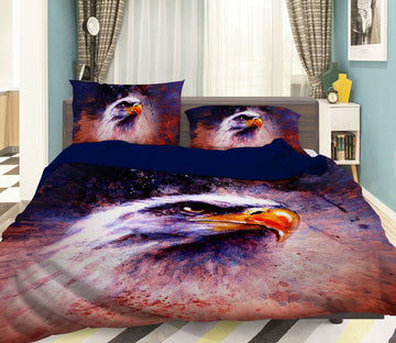 3D Red Eagle 117 Bed Pillowcases Quilt