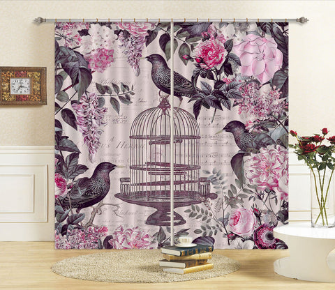 3D Birds Tweet 044 Andrea haase Curtain Curtains Drapes