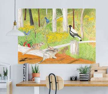 3D Forest Pigeon 018 Michael Sewell Wall Sticker