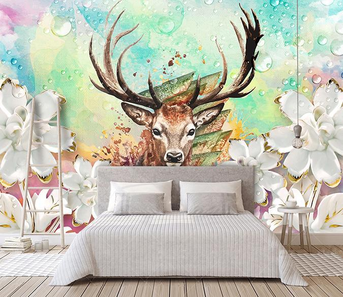 3D Elk 219 Wall Murals Wallpaper AJ Wallpaper 2