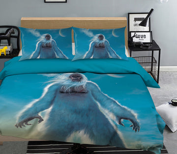 3D Tall Yeti 104 Bed Pillowcases Quilt Exclusive Designer Vincent