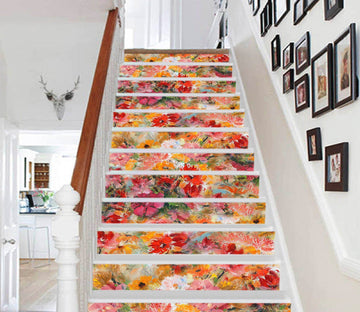 3D Flowers 531 Stair Risers Wallpaper AJ Wallpaper