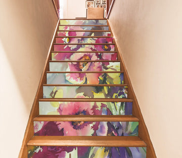 3D Flowers 2753 Stair Risers Wallpaper AJ Wallpaper