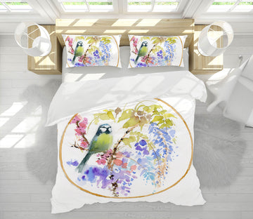 3D Embroidered Bird 2001 Anne Farrall Doyle Bedding Bed Pillowcases Quilt