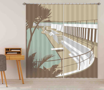 3D Penzance Pool 128 Steve Read Curtain Curtains Drapes