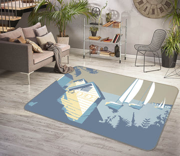 3D Sandbanks And The Purbecks 1168 Steve Read Rug Non Slip Rug Mat