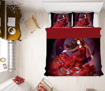 3D Girl Dress 113 Rose Catherine Khan Bedding Bed Pillowcases Quilt