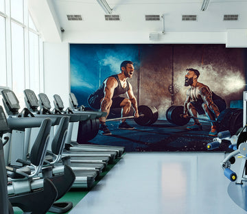 3D Squat Barbell 311 Wall Murals