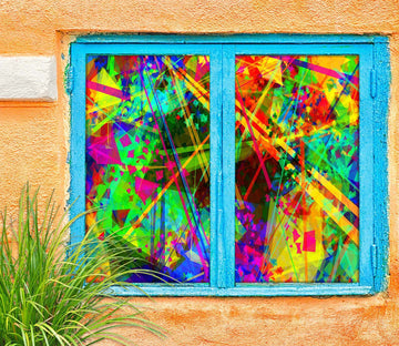 3D Color Graffiti 456 Window Film Print Sticker Cling Stained Glass UV Block