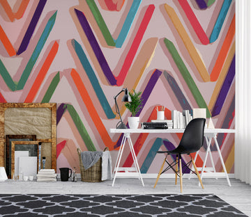 3D Colored Wavy Lines 71091 Shandra Smith Wall Mural Wall Murals