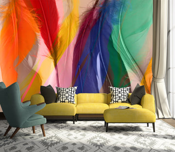 3D Colored Feathers 71081 Shandra Smith Wall Mural Wall Murals