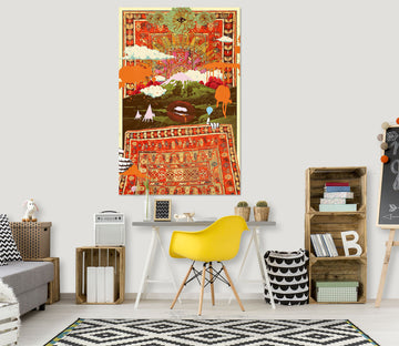 3D Forest Morning 019 Showdeer Wall Sticker