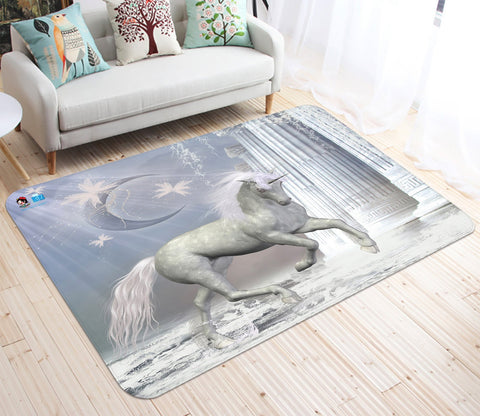 3D Moon Pillar Unicorn 23 Non Slip Rug Mat Mat AJ Creativity Home