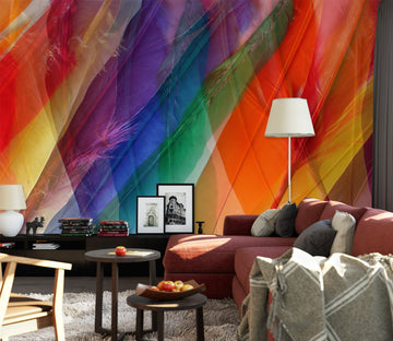 3D Colored Feathers 71069 Shandra Smith Wall Mural Wall Murals