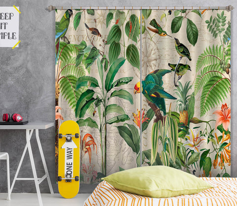 3D Kingdom Of Birds 073 Andrea haase Curtain Curtains Drapes