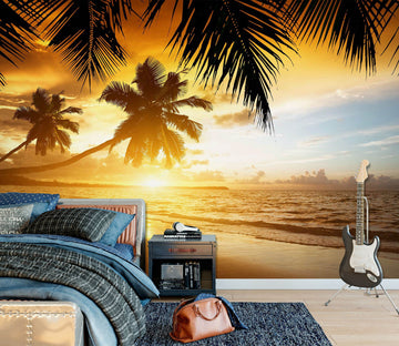 3D Beach Sunset 1751 Wall Murals Wallpaper AJ Wallpaper 2