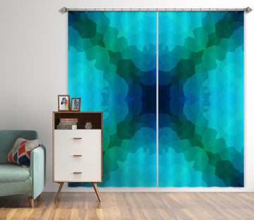 3D Shades Blue Green 71052 Shandra Smith Curtain Curtains Drapes