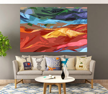3D Colored Mountains Final 71106 Shandra Smith Wall Sticker