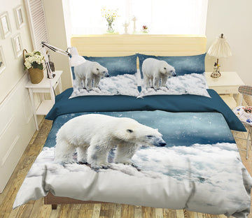 3D Polar Bear 1938 Bed Pillowcases Quilt