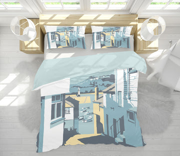 3D High Rise Street 2066 Steve Read Bedding Bed Pillowcases Quilt