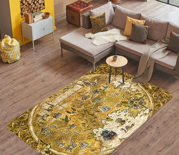 3D Complex Pattern 310 World Map Non Slip Rug Mat