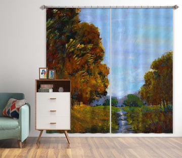 3D Winding River 217 Michael Tienhaara Curtain Curtains Drapes