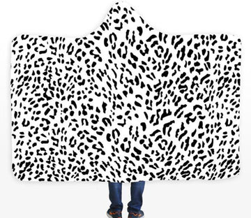 3D Black Spots 412 Hooded Blanket