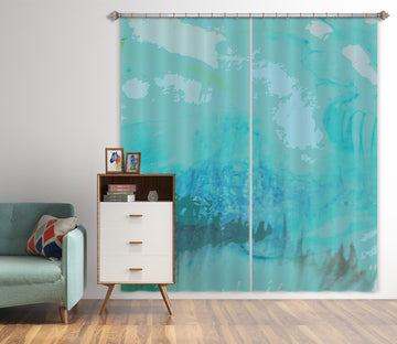 3D Blue Calm 71057 Shandra Smith Curtain Curtains Drapes