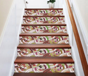 3D Ceramic Tile 7201 Stair Risers Wallpaper AJ Wallpaper