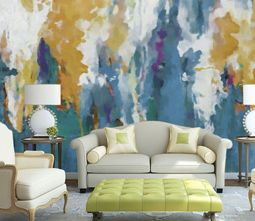 3D Golden Abstract WG102 Wall Murals
