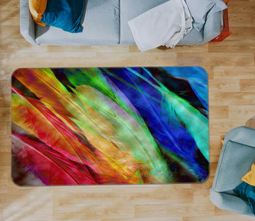 3D Colored Feathers 71009 Shandra Smith Rug Non Slip Rug Mat