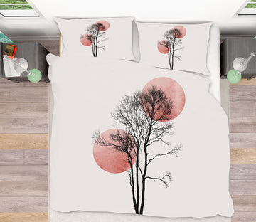 3D Moon Tree Painting 213 Boris Draschoff Bedding Bed Pillowcases Quilt