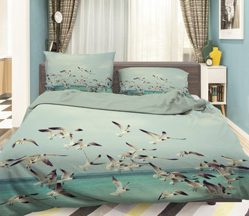 3D Seabird 1940 Bed Pillowcases Quilt