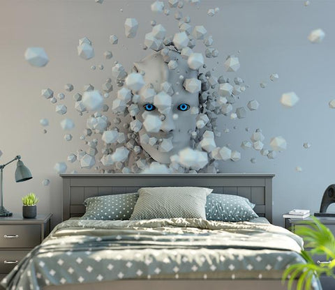 3D Abstract Face 863 Wall Murals Wallpaper AJ Wallpaper 2