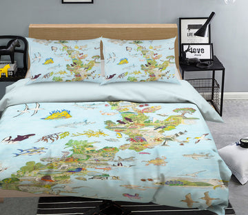 3D Animal Forest 032 Michael Sewell Bedding Bed Pillowcases Quilt