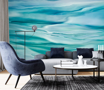 3D Blue Water Ripple 79194 Studio MetaFlorica Wall Mural Wall Murals