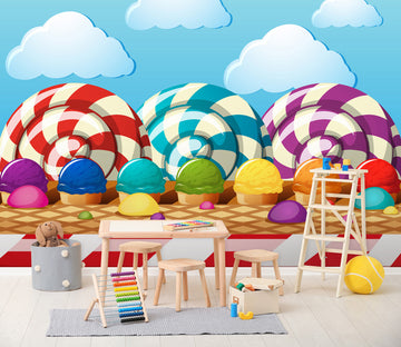 3D Color Ice Cream 255 Wall Murals