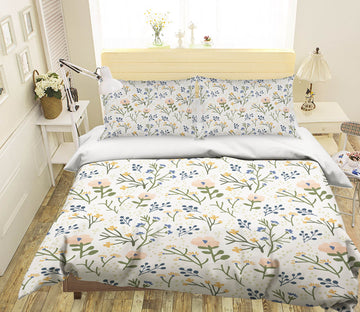 3D Colored Flowers 2109 Jillian Helvey Bedding Bed Pillowcases Quilt