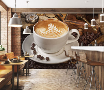 3D Coffee House 256 Wall Murals