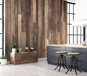 3D Vertical Wooden Wall 103 Wall Murals