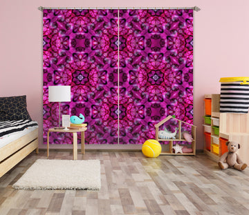3D Purple Pattern 038 Shandra Smith Curtain Curtains Drapes